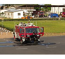 Fire Truck at Banjul Airport Photographic Print