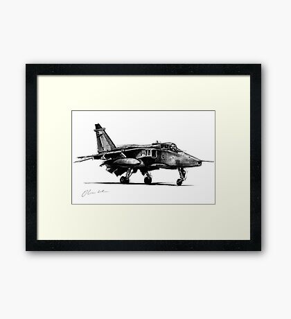 Jaguar Fighter Bomber Jet Framed Print