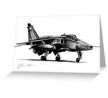 Jaguar Fighter Bomber Jet Greeting Card
