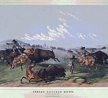 Indian Buffalo Hunt by Eugene Francis Cummings