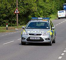 Police Patrol Car by Sue Robinson