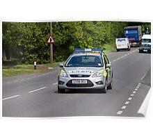 Police Patrol Car Poster