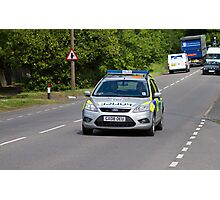 Police Patrol Car Photographic Print