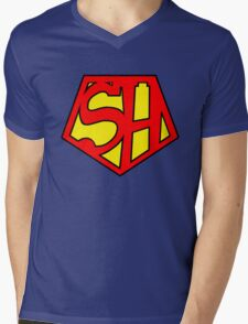 Super Sherlock Mens V-Neck T-Shirt