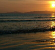 Sunset On Rossnowlagh Beach by Adrian McGlynn
