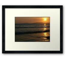 Sunset On Rossnowlagh Beach Framed Print