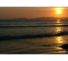 Sunset On Rossnowlagh Beach Photographic Print