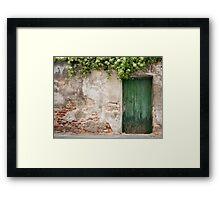 Krems: The Green Door Framed Print