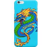 Dragon Light Blue Background iPhone Case/Skin
