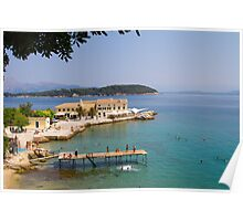 Summer in Corfu Town Poster