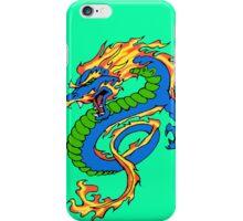Dragon Light Green Background iPhone Case/Skin
