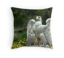 An Eagle Guards The Entrance Throw Pillow