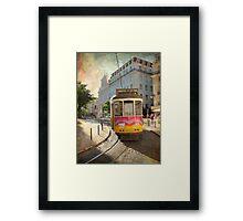 Enjoying Lisbon Framed Print