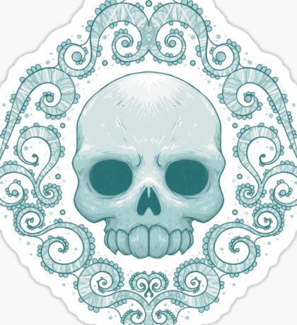 Shabby Chic Skull Sticker