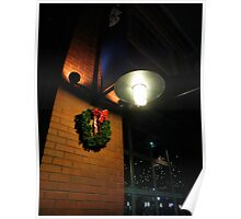 Lighted Wreath Poster