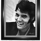 alainITerz-Portrait-Portre Elvis Presley  by alain ITerz