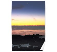 Crescent Moon and Tidal Pool Poster