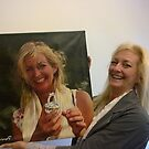 alainITerz-Portrait-Portre Birthday surprise She is so happy by alain ITerz