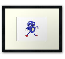 Sanic,Sonic The Hedgehog Framed Print
