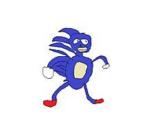 Sanic,Sonic The Hedgehog Photographic Print