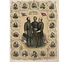 Confederate Generals of The Civil War Photographic Print