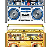 Retro Star Wars Boom box/Ghetto Blaster R2-D2 C-3PO by Creative Spectator