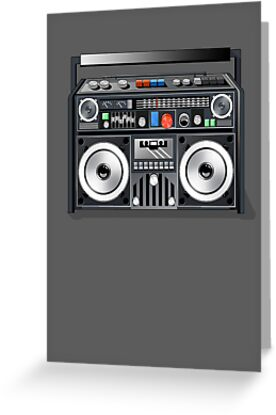 Retro Star Wars Boom box/Ghetto Blaster Darth Vader by Creative Spectator