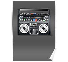 Retro Star Wars Boom box/Ghetto Blaster Darth Vader Poster
