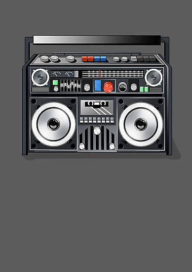 Retro Star Wars Boom box/Ghetto Blaster Darth Vader by Creative Spectator