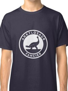 Ankylosaur Fancier (White on Dark) Classic T-Shirt