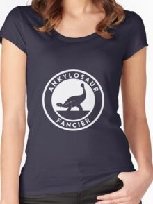Ankylosaur Fancier (White on Dark) Women's Fitted Scoop T-Shirt