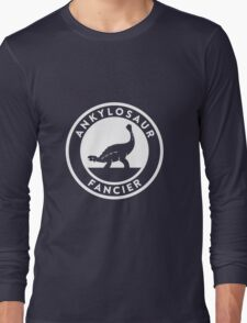 Ankylosaur Fancier (White on Dark) Long Sleeve T-Shirt