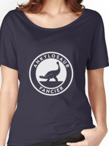 Ankylosaur Fancier (White on Dark) Women's Relaxed Fit T-Shirt