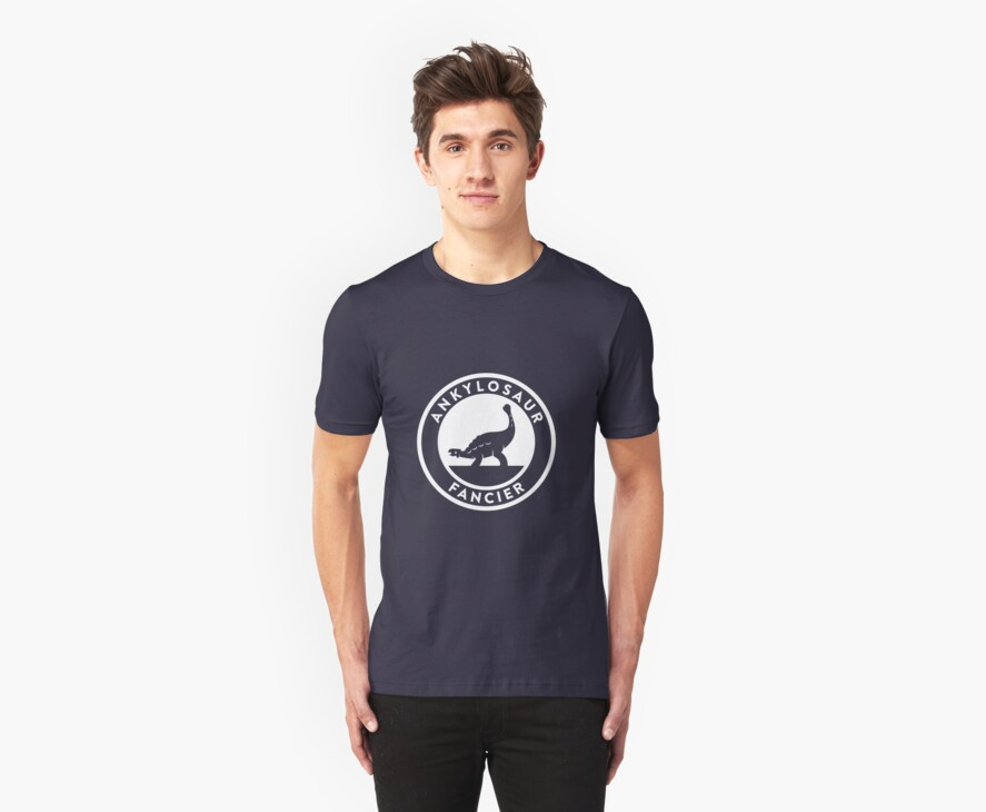 Ankylosaur Fancier (White on Dark) by David Orr