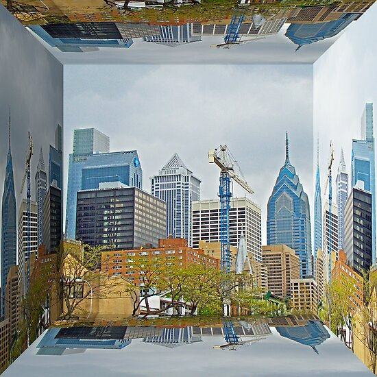 Philadelphia Skyline - Mirror Box by MotherNature