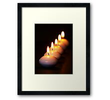 Five Candles in a Row Framed Print