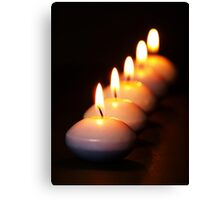 Five Candles in a Row Canvas Print