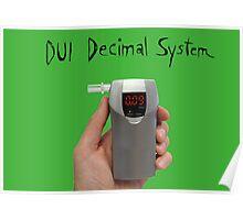 DUI Decimal System Poster
