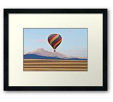 Hot Air Balloon and Longs Peak  Framed Print