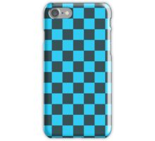 Checkered Blue and Black Pattern iPhone Case/Skin