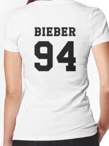 # Bieber 94 - Black Women's Fitted V-Neck T-Shirt