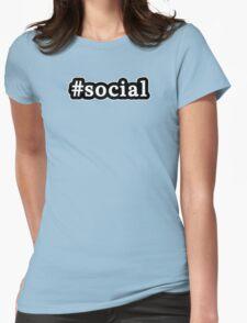 Social - Hashtag - Black & White T-Shirt