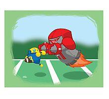 Robot Kids: Football Photographic Print