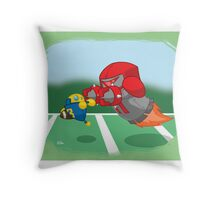 Robot Kids: Football Throw Pillow