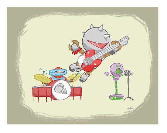 Robot Kids: Punk Rock by jeffpina78