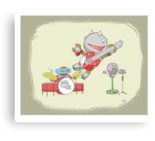 Robot Kids: Punk Rock Canvas Print