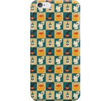 Checkered Halloween Ghost Witch Hat Pattern iPhone Case/Skin
