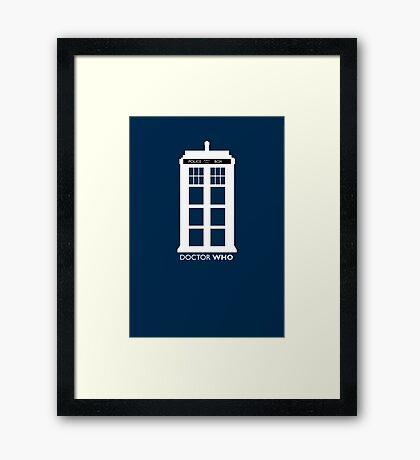 WHITE TARDIS Framed Print