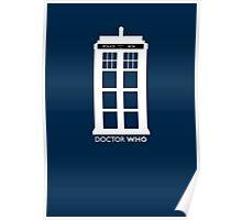 WHITE TARDIS Poster