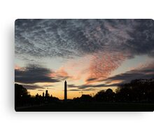 Mother Nature Painted the Sky Over Washington, DC Spectacular Canvas Print